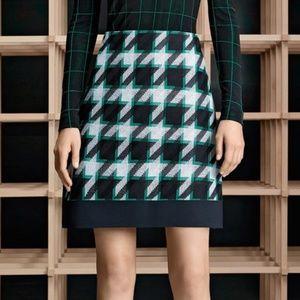 BOSS Hugo Boss Jurani Houndstooth Jacquard Skirt